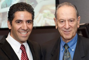 Kamiar Alaei and Jack Minker at NYAS Pagels Prize awards ceremony