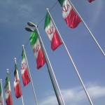 Islamic-Republic-of-Iran-Flag-in-row