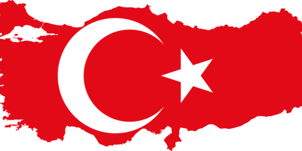 Flag Map of Turkey